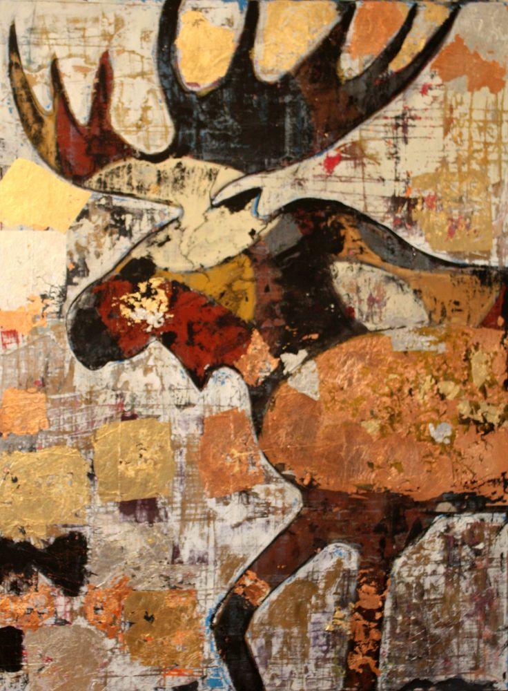 Orignal bronze - Mixed medium on canvas