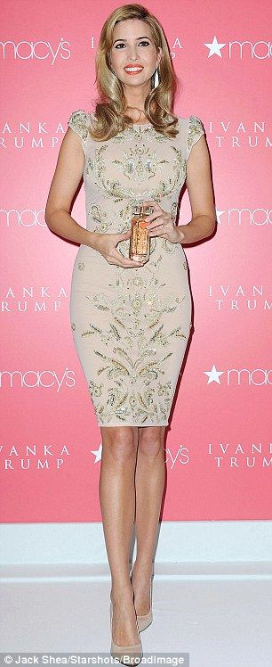 Ivanka Trump- beautiful dress with gorgeous embellishments....and the perfect knee length shows you don't need to wear a mini dress to be sexy!!!