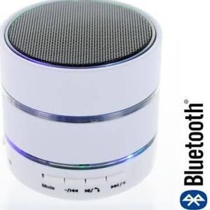 Mini Enceinte Bluetooth Blanc pour Apple iPhone iPad iPod - Enceinte PC