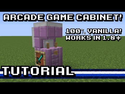Build Your Very Own Retro Arcade Games Cabinet in Minecraft! - http://gearcraft.us/build-your-very-own-retro-arcade-games-cabinet-in-minecraft/
