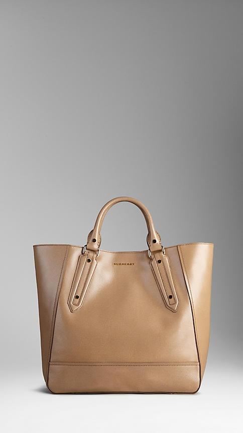 Burberry - Large patent London Leather Portrait Tote Bag