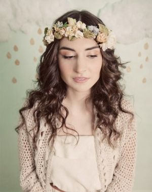 bridesmaid flower crown