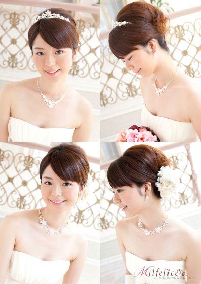 花嫁 髪型 ヘアスタイル ティアラ 夜会 アップ