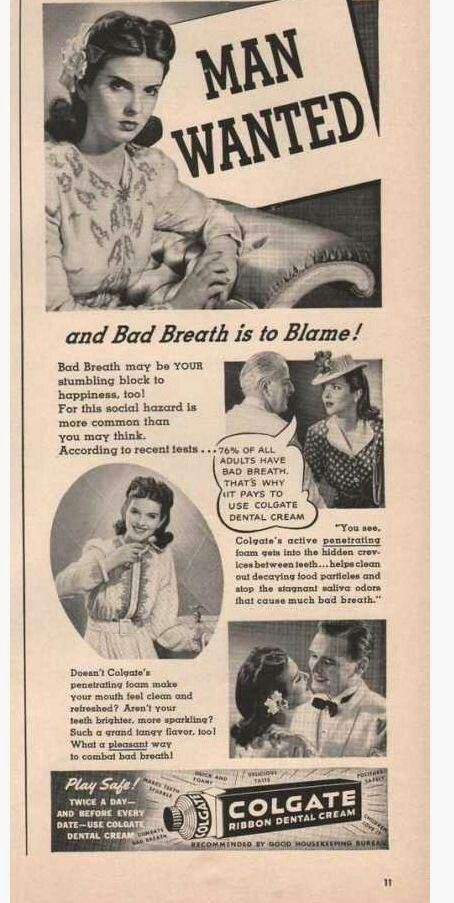 A vintage Colgate dental cream ad.  #toothpaste #dental #history
