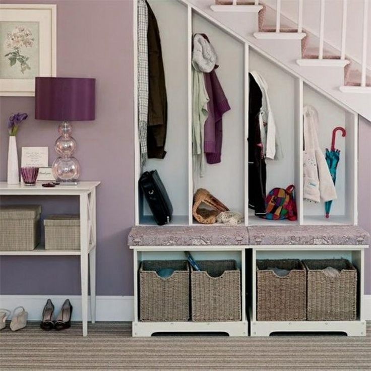 Do you have a little room under the stairs?Home Organizing Ideas -- Under-Stair Storage