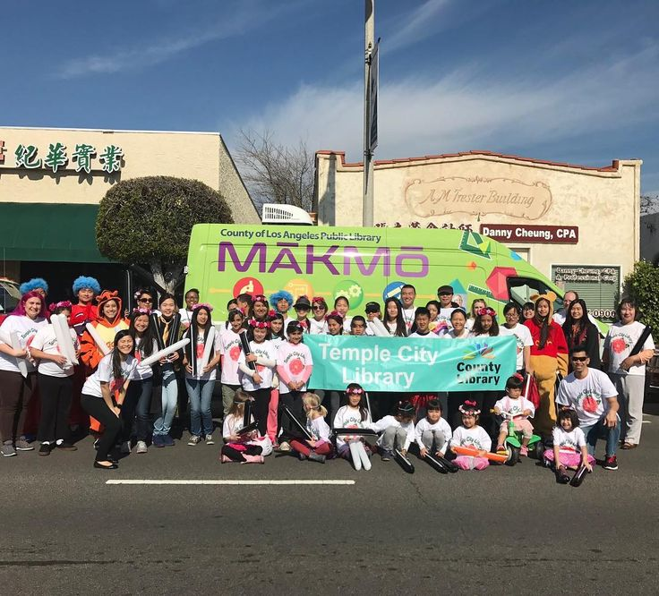 Look for the #Library and our MakMo mobile maker space in the @connectwithtc Temple City Camellia Festival Parade 2017!! #librariesofinstagram #lacounty #losangelescounty #templecity #parade