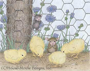 """Monica and Mudpie"" from House-Mouse Designs® featured on the The Daily Squeek® for May 30th, 2013. Click on the image to see it on a bunch of really ""Mice"" products."
