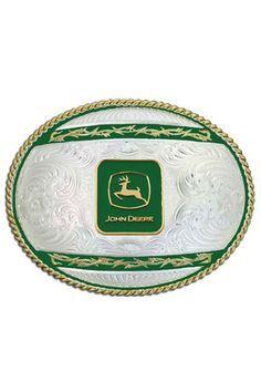 Montana Silversmiths John Deere Belt Buckle with Logo