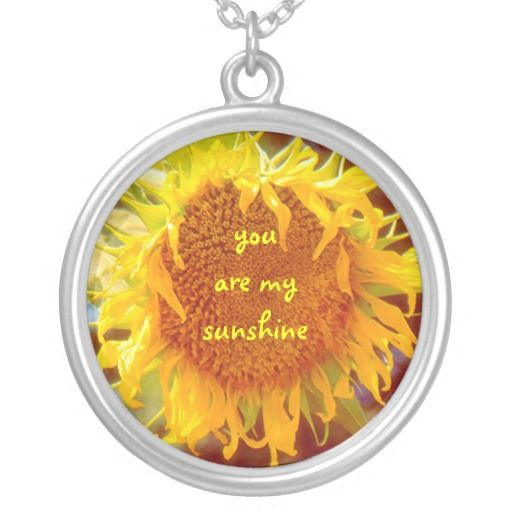 """""""'YOU ARE MY SUNSHINE"""" SUNFLOWER (PHOTOG) PERSONALIZED NECKLACE"""