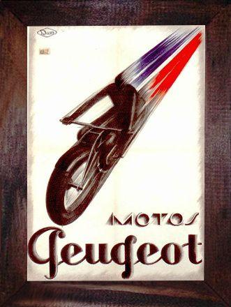QUADRO MOTO PEUGEOT 1928 - QUADROS DECORATIVOS VINTAGE & RETRÔ