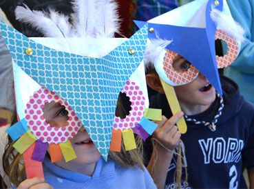Owl Masks  |  www.smallhandsbigart.com/blog
