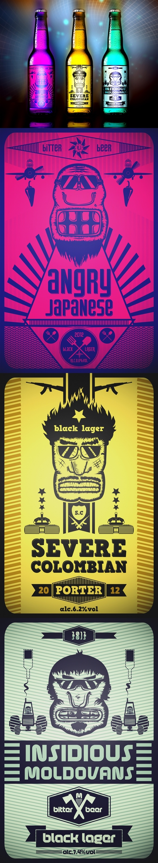 Beer label concept by Dima Kirpichev *** #package #beer #label