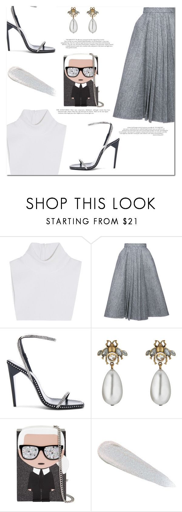 """""""Maybe"""" by marinelatadic ❤ liked on Polyvore featuring Michael Kors, Dice Kayek, Yves Saint Laurent, Gucci, Karl Lagerfeld and Urban Decay"""