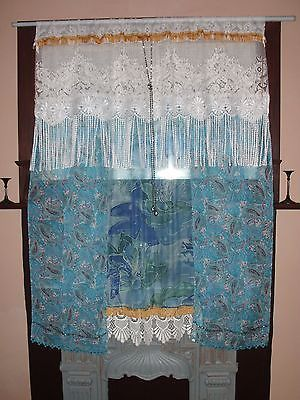 Custom Order for STAR - 3 Handmade Bohemian Curtains - Vintage Lace Silk Velvet