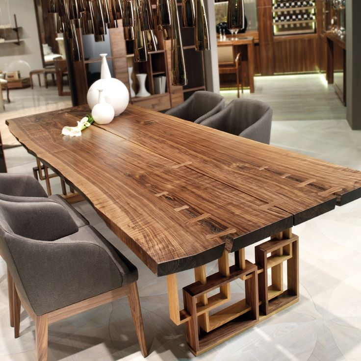 Arredamento e Mobili in Eco Design Leonardo - Arte Brotto #find #now #heraklion #crete #handmade #dinning #table #furniture #natural #walnut www.athinaikiepiplogrammi.gr