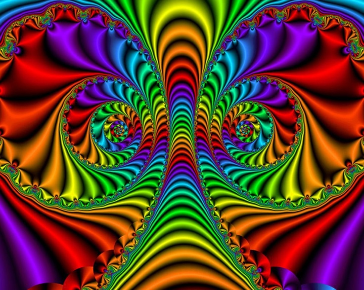 fractals optical illusion illusions fractal psychedelic rainbow designs colourful colour colors op vivid geometry gods