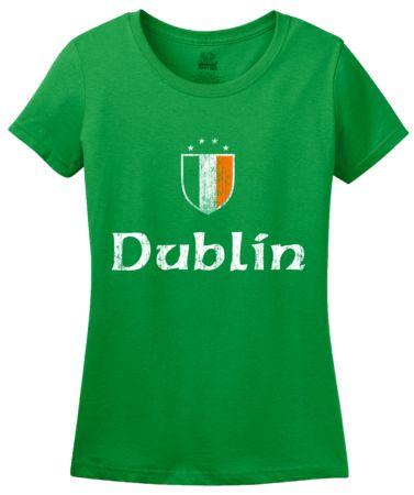 Dublin, Ireland   Women's T-Shirt #annarbortees #stpatricksday #irish #shirts #womens