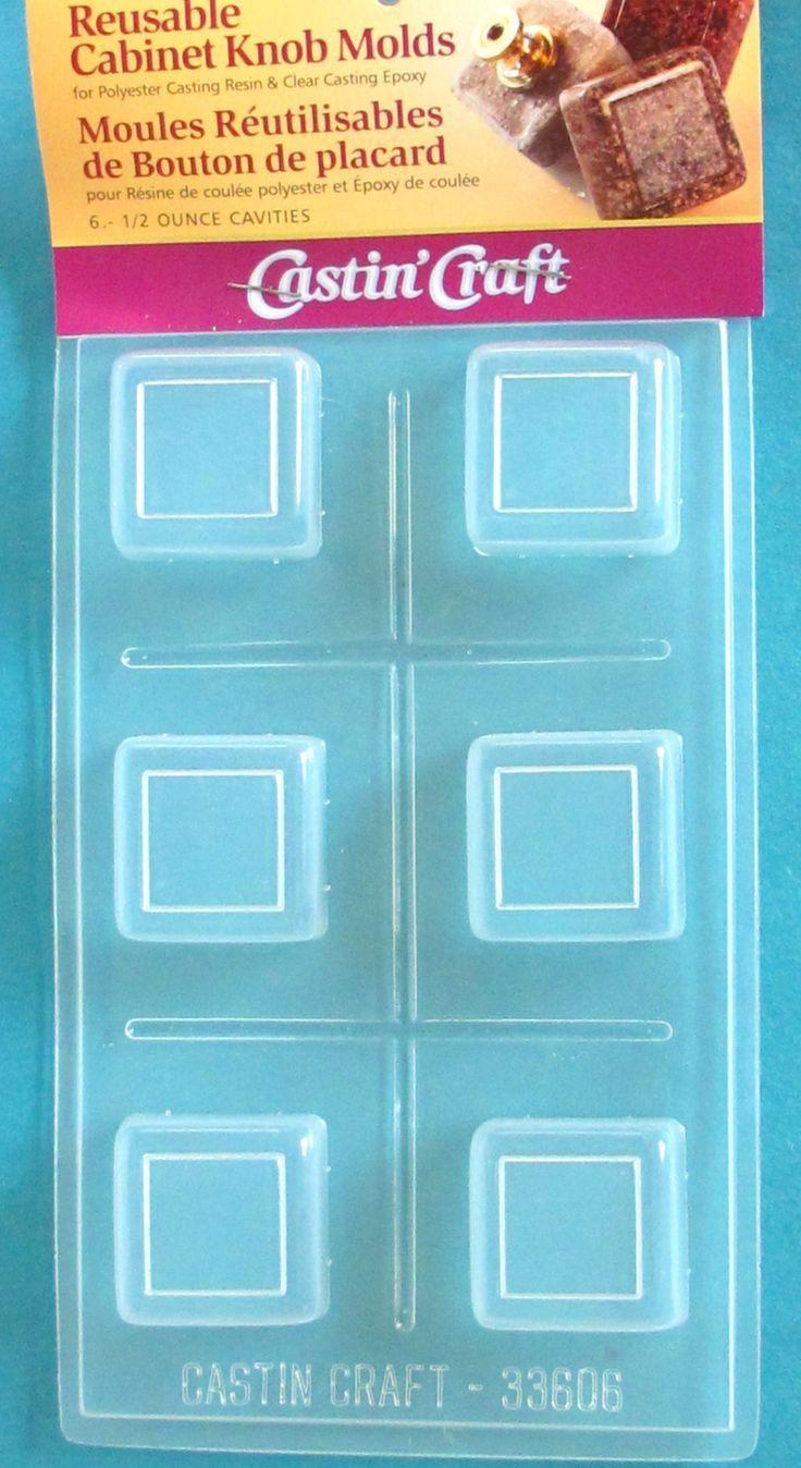 Castin craft color pigment - Square With Border Knob Mold Km06