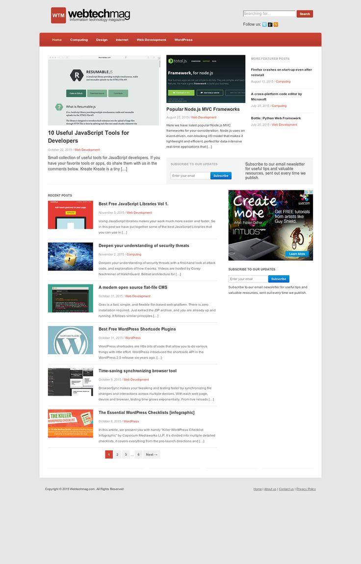 Webtechmag.com Screenshot