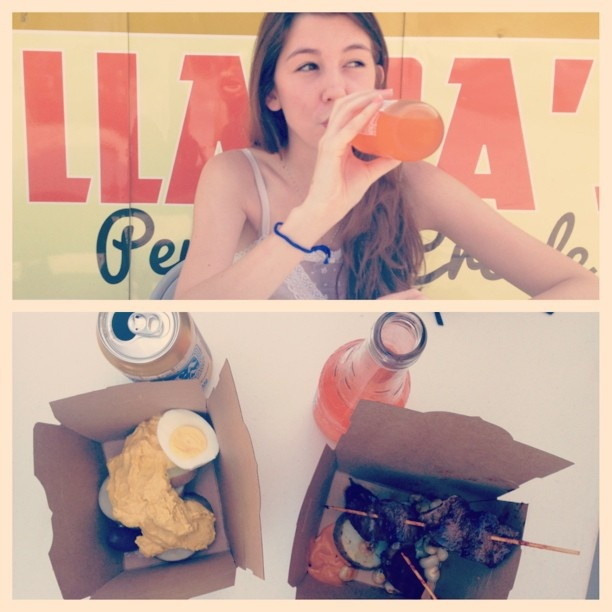 peruvian creole food rocks. so does inca cola. hitting up #atxfoodtrucks with @kellydemoya