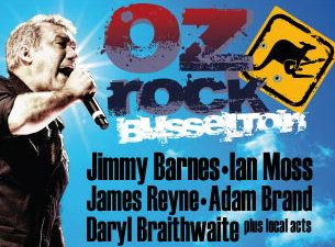 The inaugural Oz Rock Busselton is taking place on the Australia Day long weekend with Jimmy Barnes, Ian Moss, James Reyne, Adam Brand, Daryl Braithwaite.