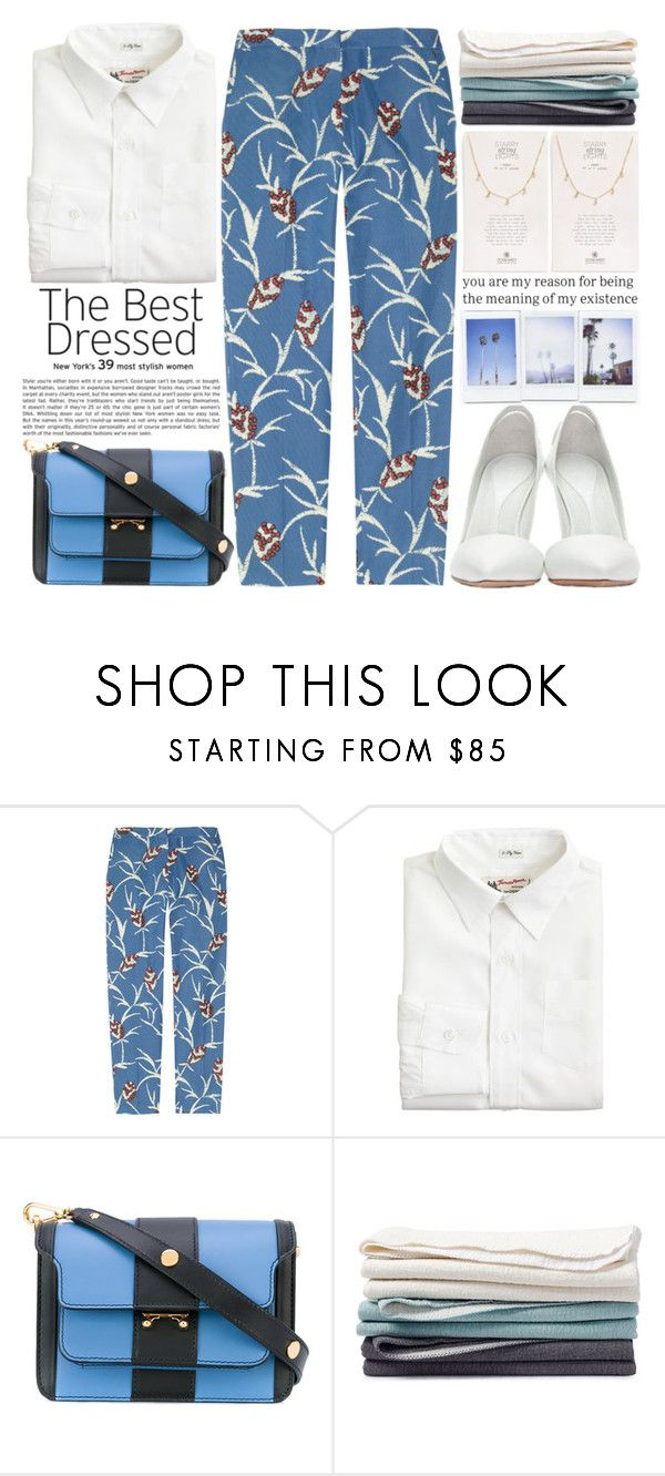 """""""The meaning of my existence"""" by theapapa ❤ liked on Polyvore featuring Marni, J.Crew, Coyuchi, Dogeared and polyPresents"""