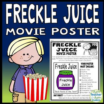 Freckle Juice Project: Create a Movie Poster! (A Fun Book