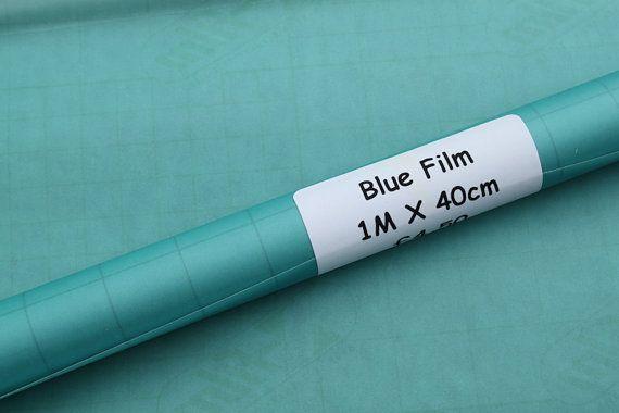 Blauw doorschijnend Film voor Klos kant en needlelace patronen