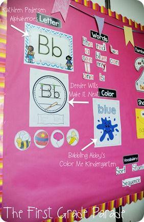 Kindergarten Focus Wall
