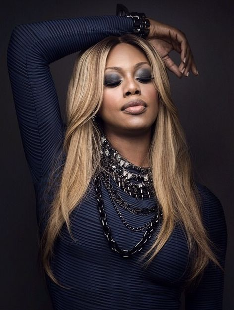 Laverne Cox. Straight up CLASSY woman. Beautiful, eloquent and an amazing advocate for transgendered people. LOVE her!