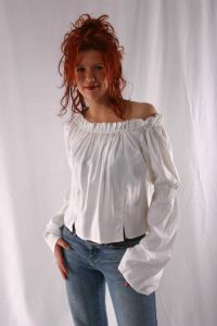 """Gypsy Top~Blouse Soft Viscose""""Off the Shoulder""""Top~Bares & Folio Gothic Hippy~17-1770"""