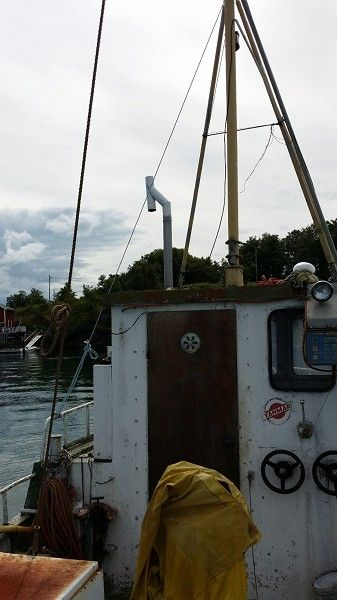 from deck to wheelhouse onboard