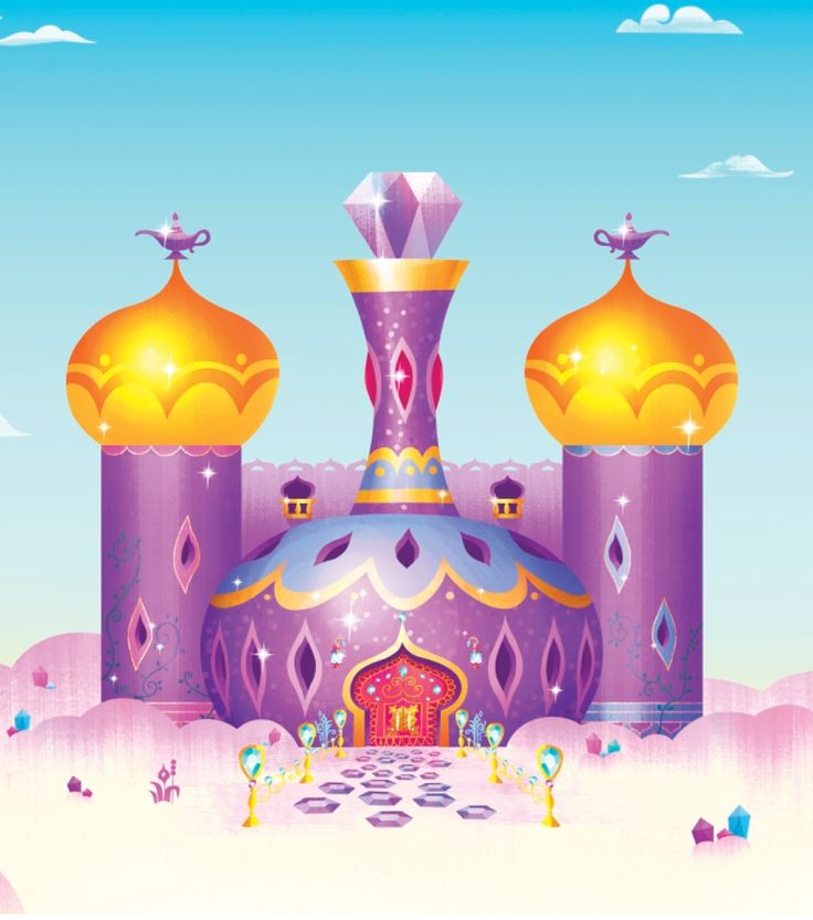 Shimmer and Shine's genie bottle home in Zahramay Falls has everything two genies and their pets could ever wish for.