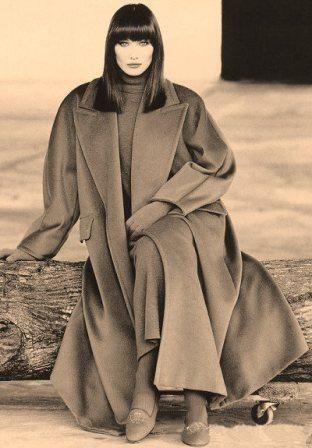 Max Mara Collection Fall/Winter 1993/94...Photo Max Vadukul....Model Carla Bruni