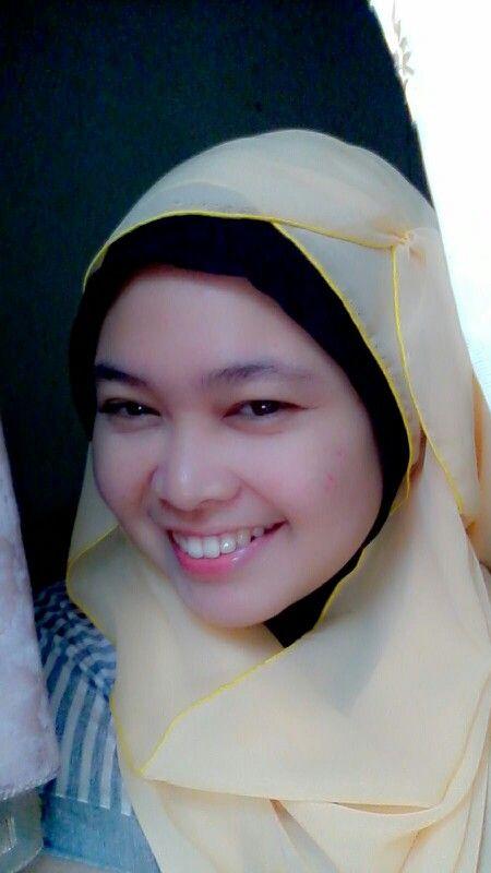 Yellow scarf---