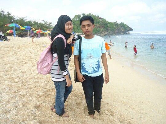 Wediombo beach. Gunungkidul yogyakarta indonesia.