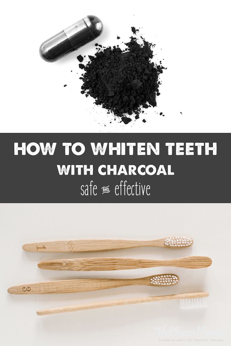 how to get charcoal off your teeth