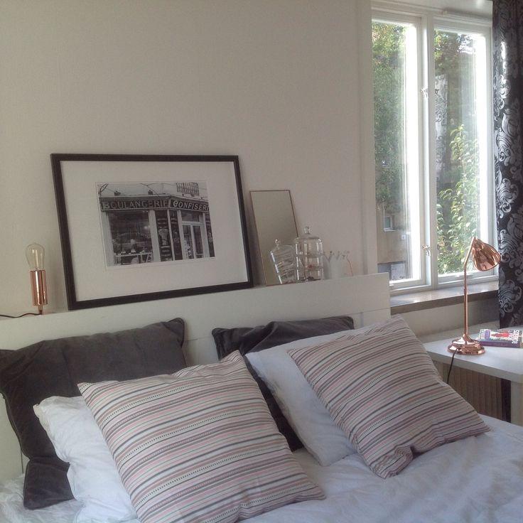 Litet koppar friskar upp mitt sovrum, eller hur? ) Inredning sisustus Pinterest Sovrum