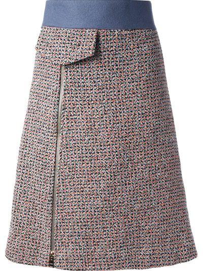 CHLOÉ - high-waisted tweed skirt 6