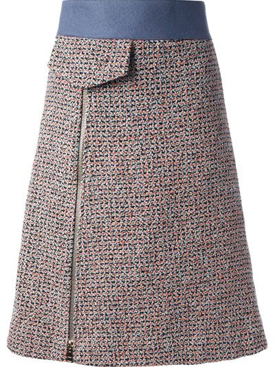 CHLOÉ - high-waisted tweed skirt 6