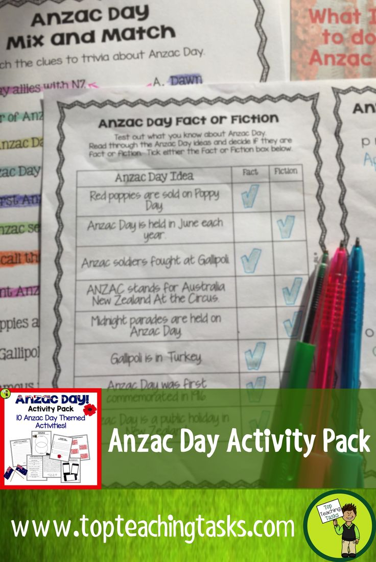 Let us save you time this Anzac Day with our Anzac Day Activity Pack. This NZ (New Zealand) Activity Pack features 10 Print and Go Anzac Day Themed Resources. Just choose which resources you would like to use and print them out! Perfect to use in the classroom, as an early finisher activity or for homework.   This resource features: 1. Writing Prompts 1 2. Writing Prompts 2 3. Word Scramble 4. Fact or Fiction 5. Word Find 6. Mix and Match 7. Venn Diagram 8. Snap Shot 9. Acrostic Poem 10…