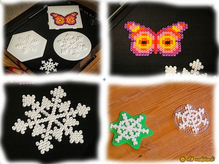 Hama snowflake and butterfly