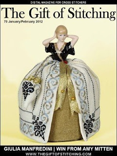 """""""nougat blue"""" is the Romy's creations thread that Giulia (www.puntiantichi.com) used for this amazing doll <3"""