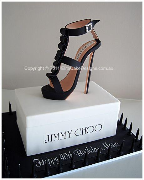 Jimmy Choo Stiletto Birthday Cake, Novelty Cakes Sydney, Stiletto Birthday Cakes, Women's Shoe cake, Gucci, Jimmy Choo, Designer Cakes by EliteCakeDesigns
