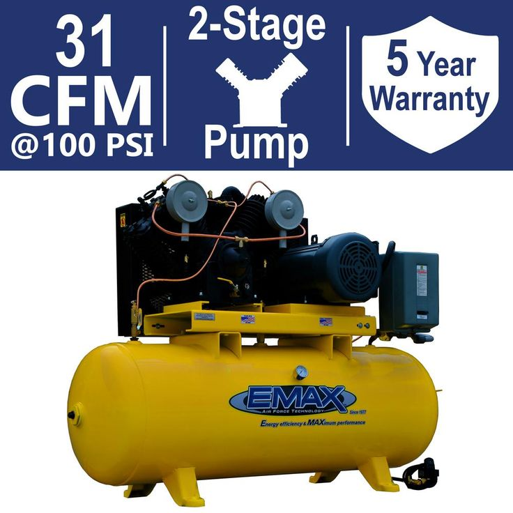 Industrial Plus Series 80 Gal. 7.5 HP 3-Phase 2 Stage Stationary Electric Air Compressor