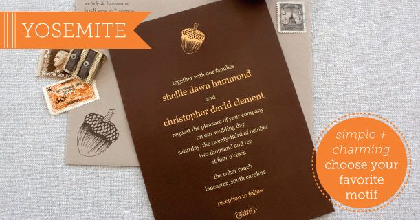 Yosemite Wedding Invitations: 18 Best Wedding Invitations From Card Tricks Designs