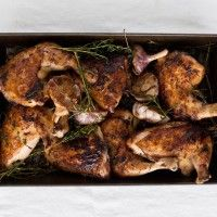 Roasted Chicken Thighs with Lemon and Oregano Recipe - Bon Appétit