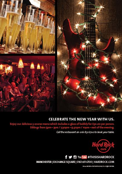 Hard Rock Cafe Manchester New Years Eve