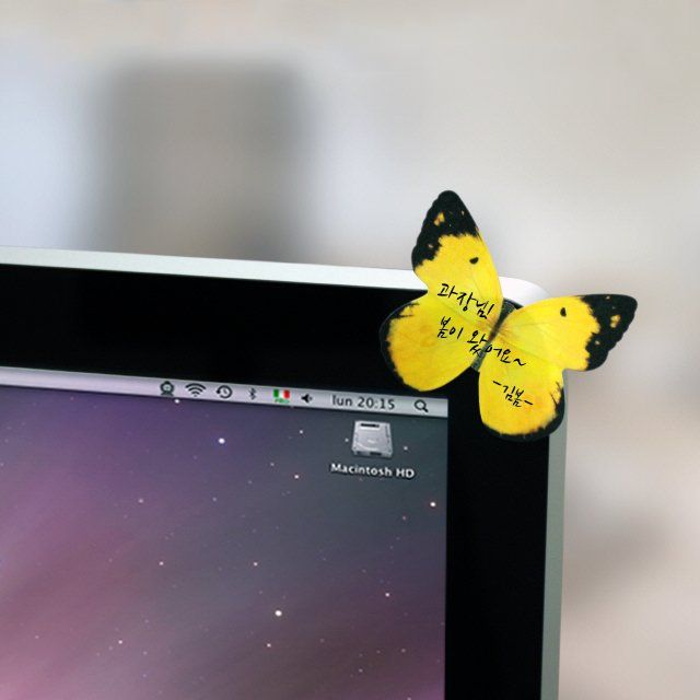 Instead of having those boring square shaped memos stuck everywhere around your workplace and the house, you can opt to look for a change through these Butterflies