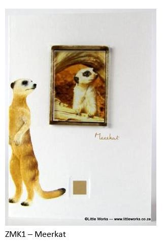 Greeting Card African Meerkat